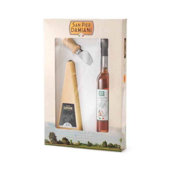Confezione regalo 24 mesi con coltellino e balsamico pera